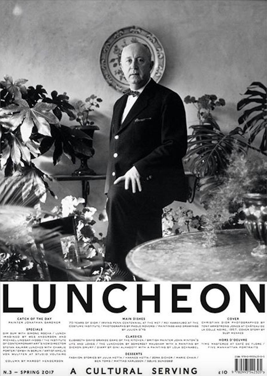 Nieuw tijdschrift Luncheon mixt food, fashion en art