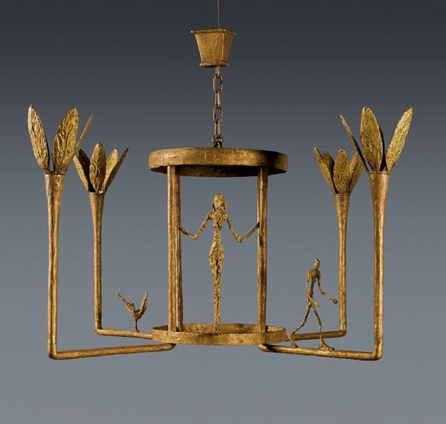 Deze kroonluchter van Giacometti wordt voor het eerst geveild
